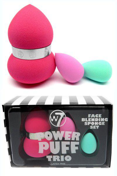 Set 3 Buretei Profesionali pt. Blending W7 Power Puff Trio Latex Free-big