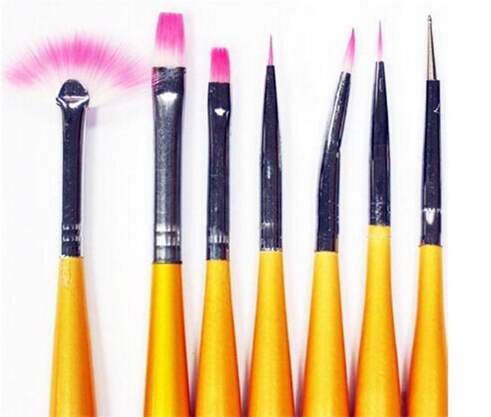 Set 7 Pensule Profesionale pentru Manichiura si Pictura Unghii-big