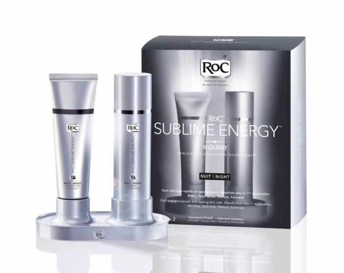 Set Noapte pentru Reintinerire RoC Sublime Energy E-Pulse, 2x30 ml-big