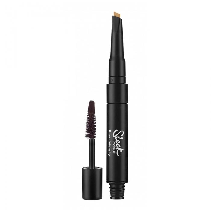 Creion si Mascara pentru Sprancene Sleek MakeUP Brow Intensity, Extra Dark-big