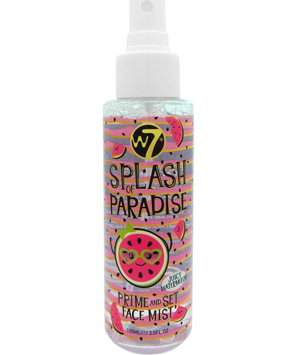 Spray Primer si Fixator machiaj W7 Splash Of Paradise Prime & Set Face, Juicy Watermelon, 100 ml-big