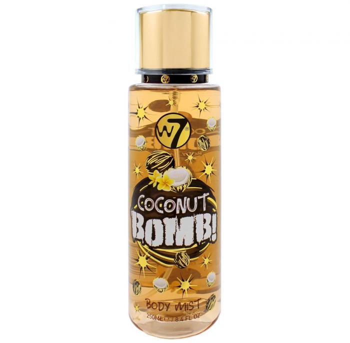 Spray Pentru Corp cu aroma de cocos W7 Coconut Bomb! Body Mist, 250 ml-big