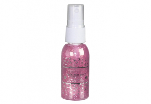 Spray Stralucitor Pentru Fata Si Corp Technic Face And Body Shimmer - Pink, 30 ml-big