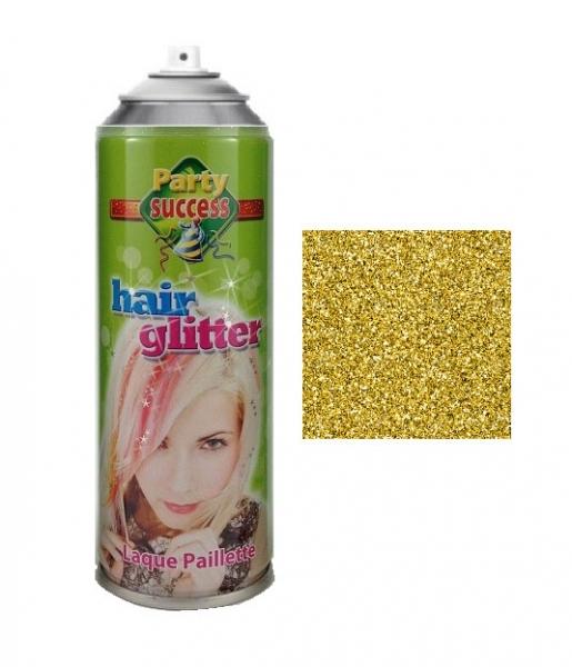 Spray Cu Sclipici Pentru Par Si Corp Party Succes, Auriu, 125 ml-big