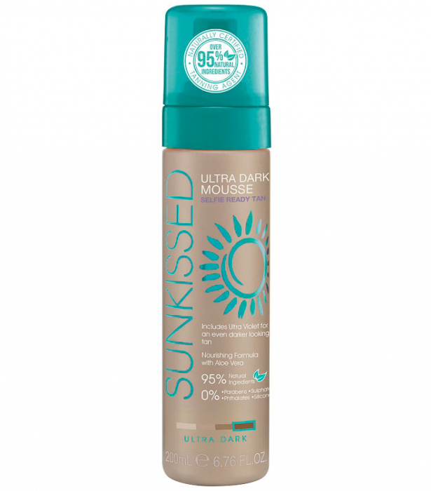 Spuma Autobronzanta Profesionala SUNKISSED Self-tan, Ultra-Dark, 95% Ingrediente Naturale, 200 ml-big