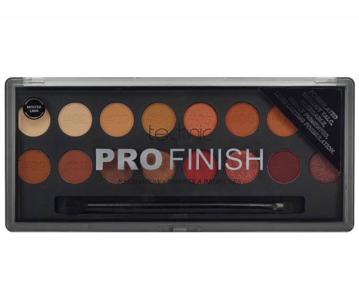 Paleta Profesionala de Farduri Technic PRO Finish Eyeshadow, Molten Lava-big