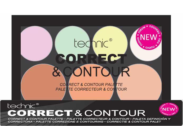 Trusa Profesionala Conturare cu 7 Corectoare TECHNIC Correct & Contour-big