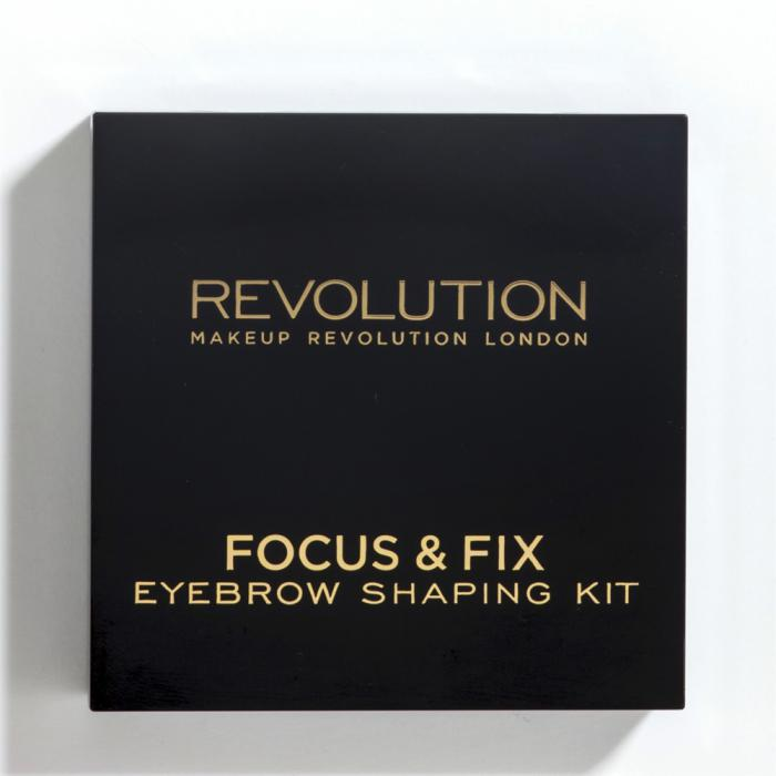 Kit Pentru Sprancene MAKEUP REVOLUTION Focus & Fix - Medium  Dark-big