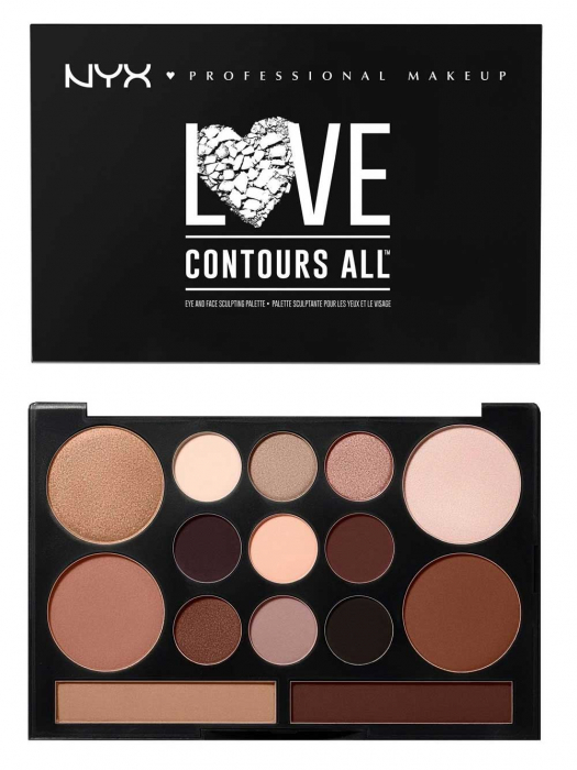 Paleta Profesionala Machiaj NYX Professional Makeup LOVE CONTOURS ALL Eye & Face Sculpting Palette-big