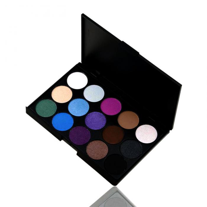 Trusa Profesionala de 15 Farduri pt. Smokey Eyes Spring Colors E15/03-big