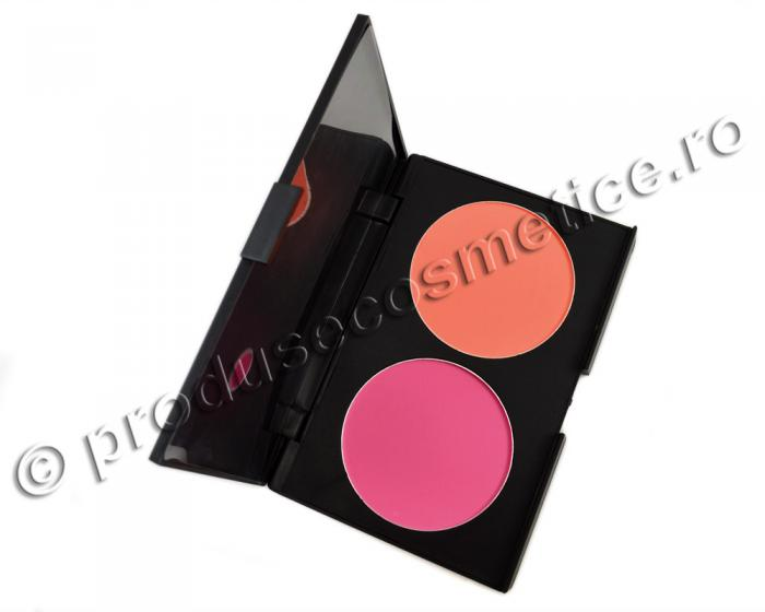 Trusa Profesionala de Blush-uri Fraulein38 Blush DUO - Peach & Pink-big