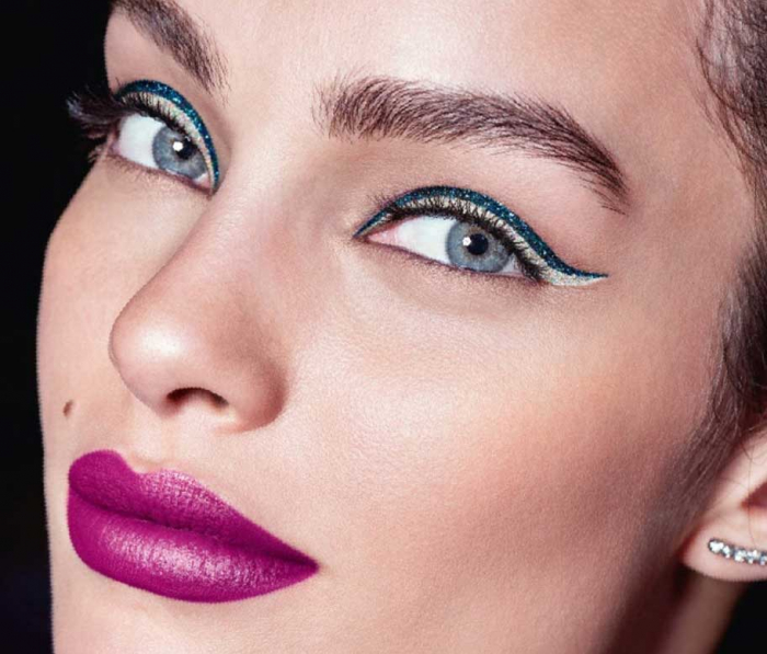Tus de ochi cu sclipici L'Oreal Paris Glitter Fever Eyeliner, 01 Holographic Show, 6.5 ml-big