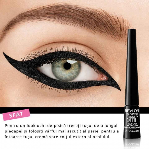 Tus de ochi lichid REVLON Colorstay Skinny Liquid Liner - 301 Black Out,  2.5ml-big