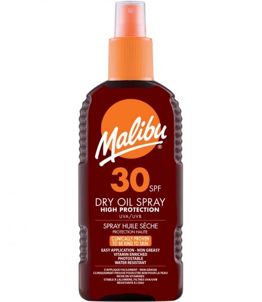Ulei De Plaja Malibu Dry Oil Spray Cu SPF30, 200 ml-big