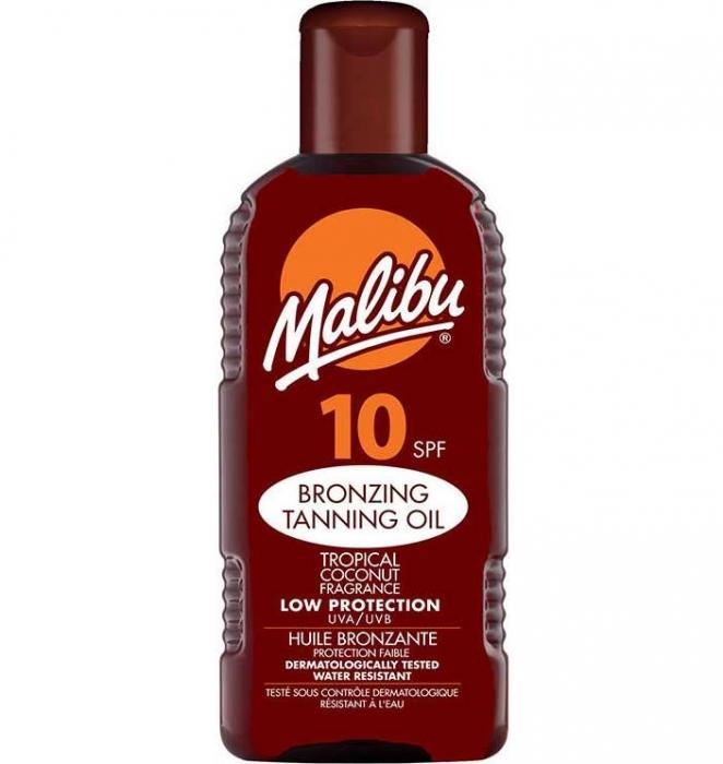 Ulei De Plaja MALIBU Bronzing Tanning Oil Cu SPF10, 200 ml-big