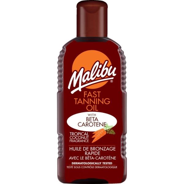 Ulei Pentru Accelerarea Bronzului Cu Beta Caroten Si Ulei De Cocos Malibu Fast Tanning Oil, 200 ml-big