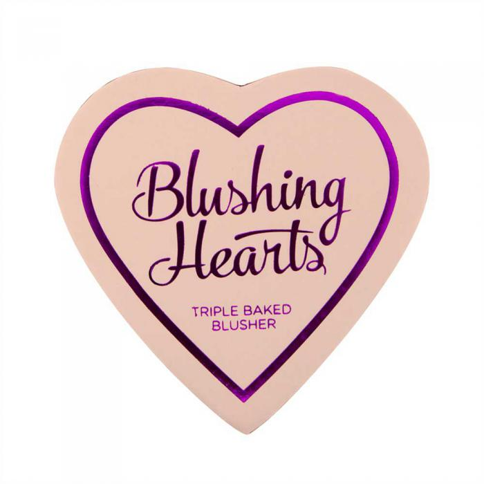 Blush Iluminator Makeup Revolution I Heart Makeup Blushing Hearts - Iced Hearts, 10g-big
