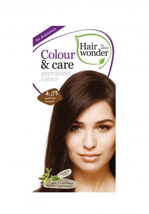 Vopsea De Par Fara Amoniac HennaPlus Hair Wonder-4.03 Mocha Brown-big