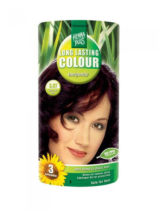 Vopsea de Par HennaPlus Long Lasting Colour - Burgundy 3.67-big