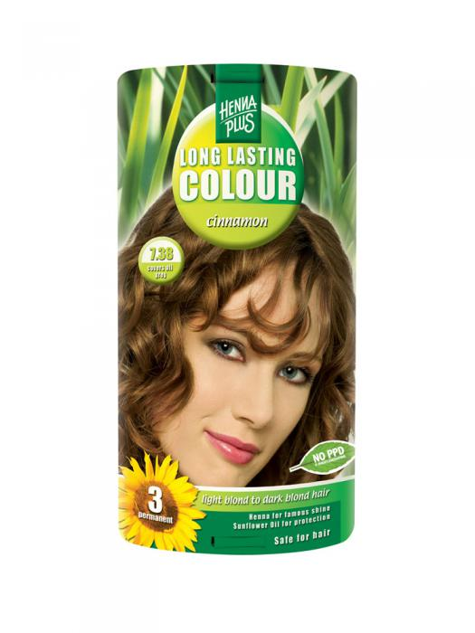 Vopsea de Par HennaPlus Long Lasting Colour - Cinnamon 7.38-big