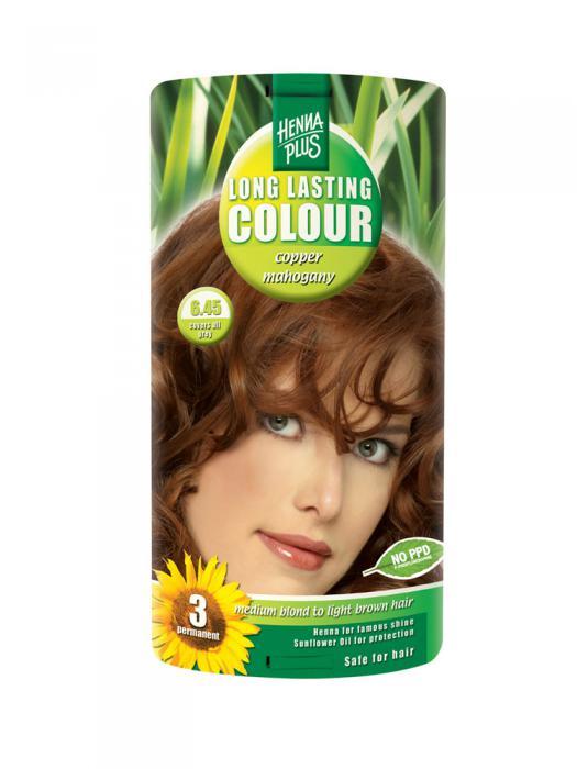 Vopsea de Par HennaPlus Long Lasting Colour - Cooper Mahogany 6.45-big