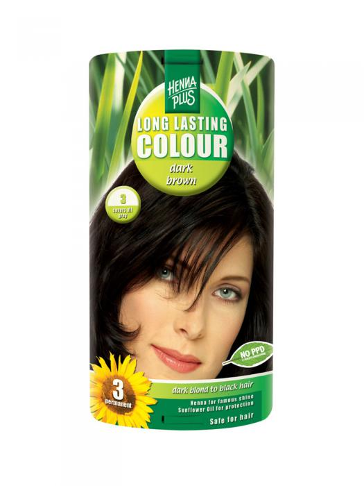 Vopsea de Par HennaPlus Long Lasting Colour - Dark Brown 3-big