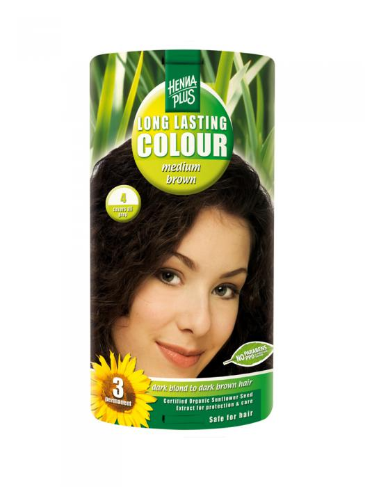 Vopsea de Par HennaPlus Long Lasting Colour - Medium Brown 4-big