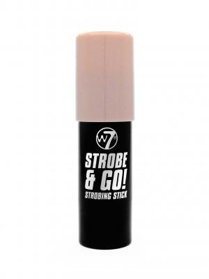 Baton Iluminator cu Irizatii Roz W7 Strobe & Go - Pink Light, 5g1