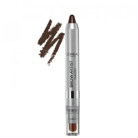 Creion pentru sprancene L'Oreal Paris Brow Artist Maker, 04 Dark Brunette, 12 g