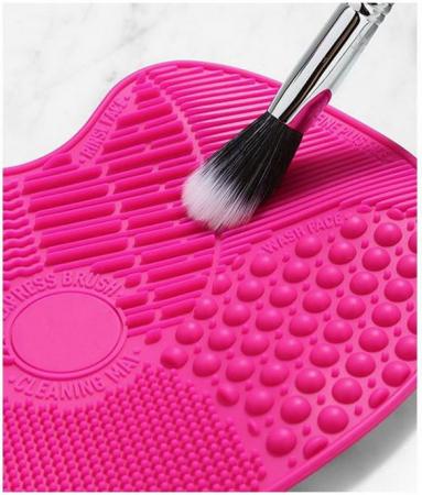 Dispozitiv de Silicon pentru Curatarea Pensulelor de Makeup, Brush SPA cu 7 suprafete diferite si sistem de fixare antialunecare4