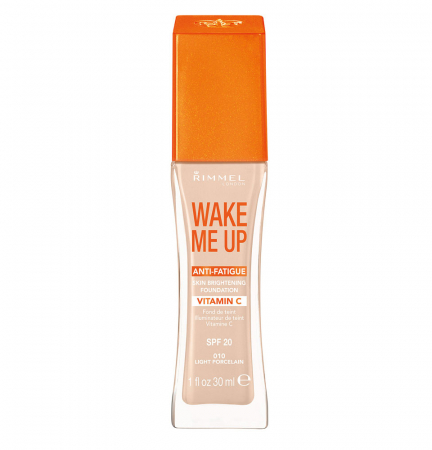Fond de ten Rimmel London Wake Me Up 010 Light Porcelain, 30 ml