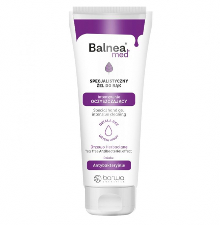 Gel de maini antibacterian, Balnea Med, Barwa Cosmetics, 60 ml
