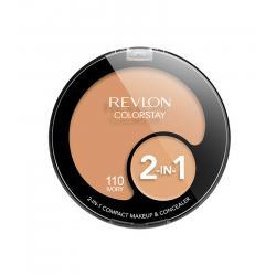 Kit cu Fond de Ten si Corector REVLON Colorstay 2 in 1 Compact Makeup 110 Ivory, 11g