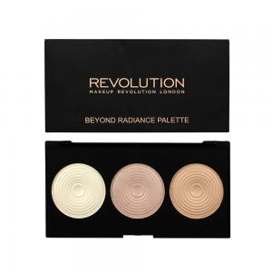 Paleta iluminatoare MAKEUP REVOLUTION 3 Radiant Lights Highlighter Palette - Beyond Radiance, 15g