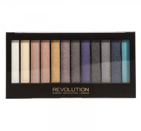 Paleta de farduri Makeup Revolution - Redemption - Essential Day To Night, 12 Nuante
