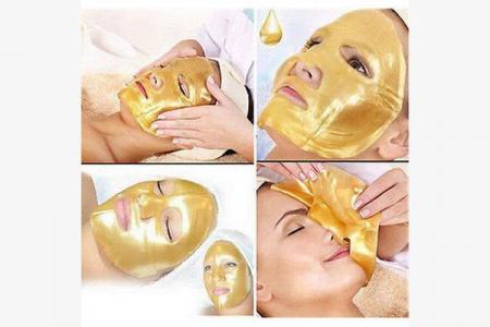 Masca de fata pentru intinerirea tenului cu aur si colagen Skin Beauty Collagen Facial Mask1