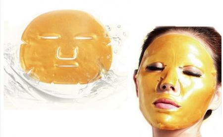 Masca de fata pentru intinerirea tenului cu aur si colagen Skin Beauty Collagen Facial Mask2