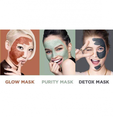 Kit 3 Masti pentru Ten L'Oreal 3 Pure Clays Multi-Masking Face Mask Play Kit, 3 x 10 ml3