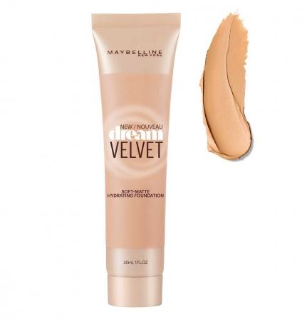 Fond De Ten Matifiant Maybelline Dream Velvet Soft-Matte Hydrating Fondation  01 Natural Ivory , 30ml