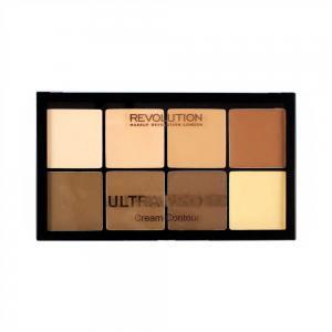 Paleta MAKEUP REVOLUTION HD Pro Cream Contour cu 8 Corectoare Cremoase Pentru Conturare  - Light-Medium, 20g1