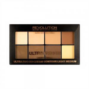 Paleta MAKEUP REVOLUTION HD Pro Cream Contour cu 8 Corectoare Cremoase Pentru Conturare  - Light-Medium, 20g2