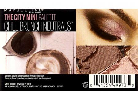 Paleta Farduri Maybelline The City Mini Palette - 410 Chill Brunch Neutrals1