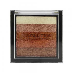 Paleta Iluminatoare Bronzanta MAKEUP REVOLUTION Shimmer Brick, Rose Gold