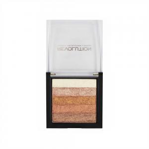Paleta Iluminatoare Bronzanta MAKEUP REVOLUTION Shimmer Brick, Rose Gold2