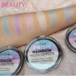 Paleta Iluminatoare Multicolora TECHNIC Prism Rainbow Highlighter Powder, 6g3