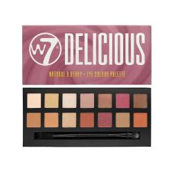 Paleta Profesionala de Farduri W7 Delicious 14pc Eye Colour Palette - Natural & Berry, 11.2g