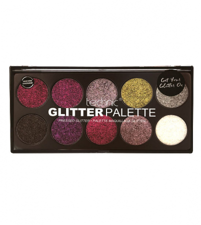 Paleta Technic Glitter Palette, Uniform Unicorn!, 10 x 2.5g