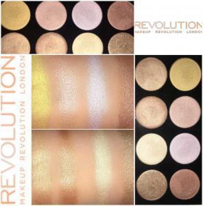 Paleta cu 8 Iluminatoare Pudra MAKEUP REVOLUTION Ultra Strobe and Light Palette, 12g2