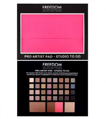 Paleta pentru fata multifunctionala Freedom Makeup, Pro Artist Pad Studio to Go1