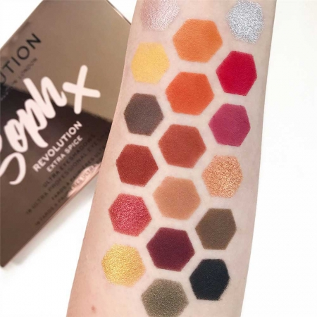 Paleta de farduri Makeup Revolution Soph X Eyeshadow Palette, Extra Spice, 18 Nuante5